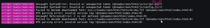 New Loadscreen Error