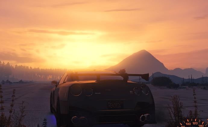 gtr sunset