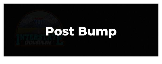 Post Bump